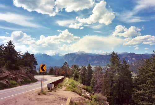 Heading into Estes Park along...