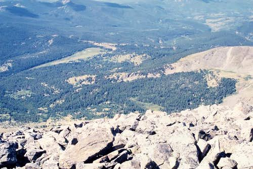 View from summit of Mt. Ouray...