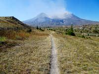 Approaching St Helens from Johnston Ridge