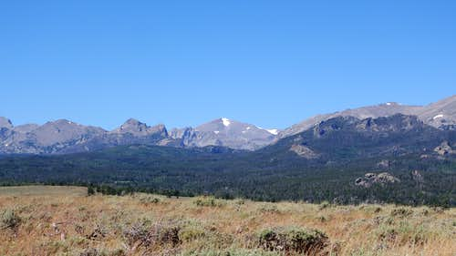 Wind River Peak from Block and Tackle Hill