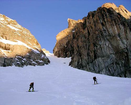 The couloir on the Becca di...