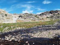 ridge between Rough Lake and sky top basin