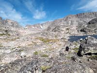 Sky Top basin from ridge north of Rough Lake