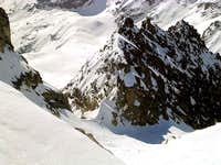 The top of the couloir from...