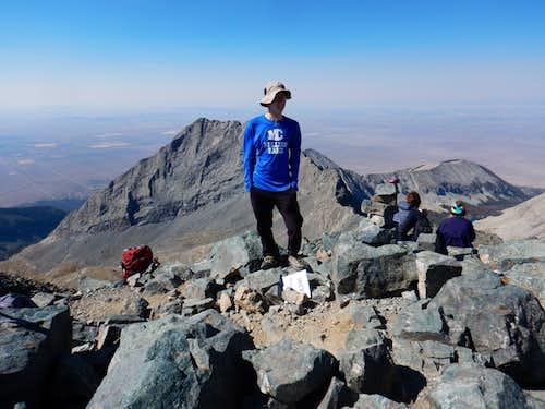 Kessler on the summit of Blanca Peak