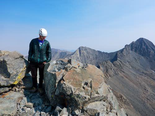 Kessler on the summit of Little Bear Peak