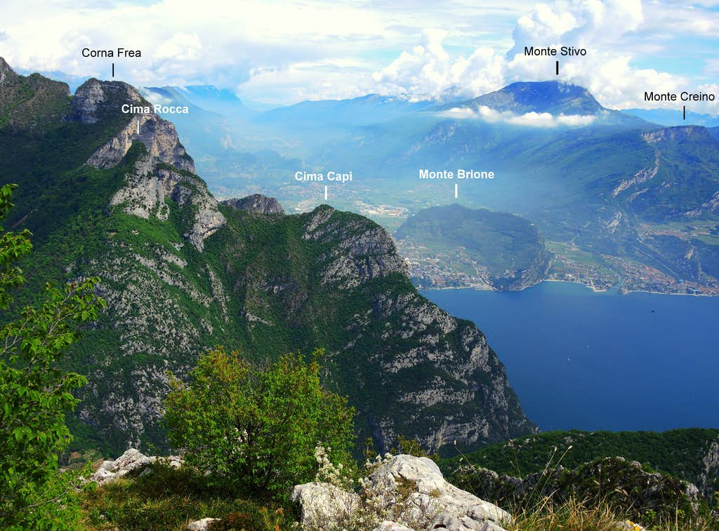 Annotated view from Creste di Pregasina
