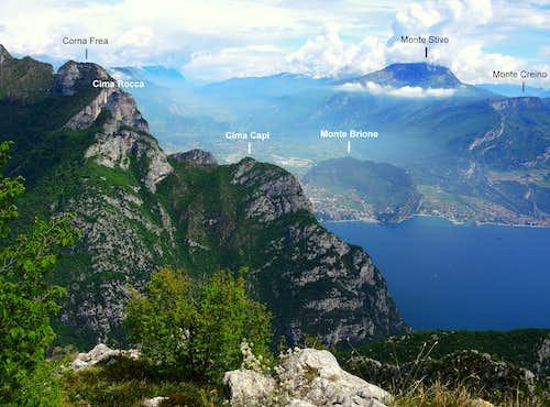 Annotated view from Creste di Pregasina
