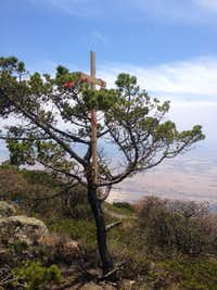 Summit cross at Cerro Pizarro