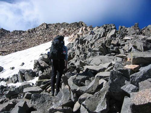 Ascending the East Ridge,...