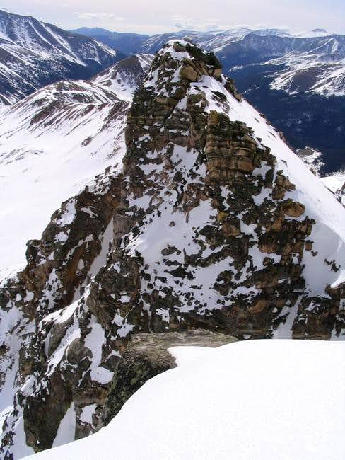 Looking from the West summit...