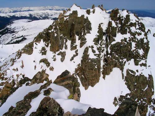 The pinpoint West Summit of...