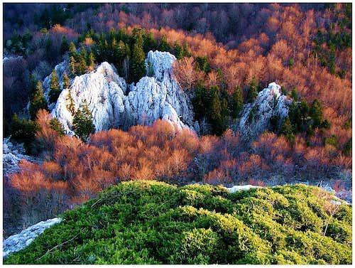 Evening colours on the summit of Kita Gacesina