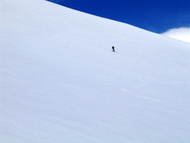Upper NE Face Ski Descent....