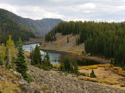 Wolverine Lake from the Crag Crest Trail