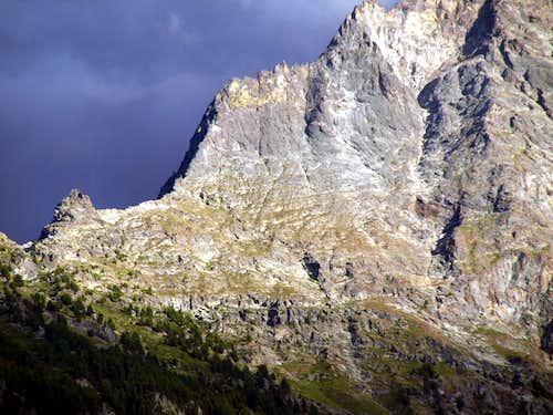 Lunar La Dent & N-NE Ridge de la Becca di Nona