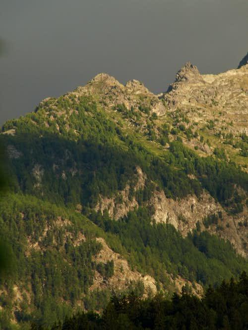 La Dent de la Becca di Nona above the Morion's Gorge