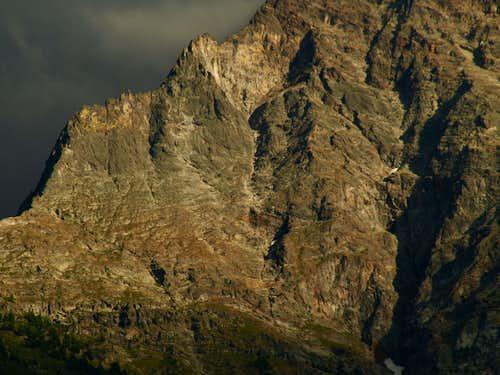North Wall of Becca di Nona above La Dent