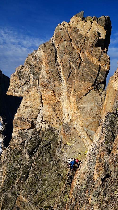 Climbing on Mount Koven