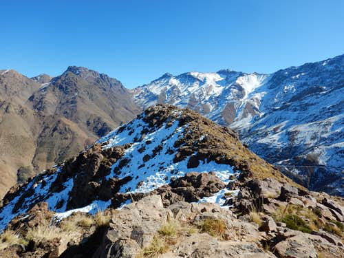 View from near the summit of Tamalaroute