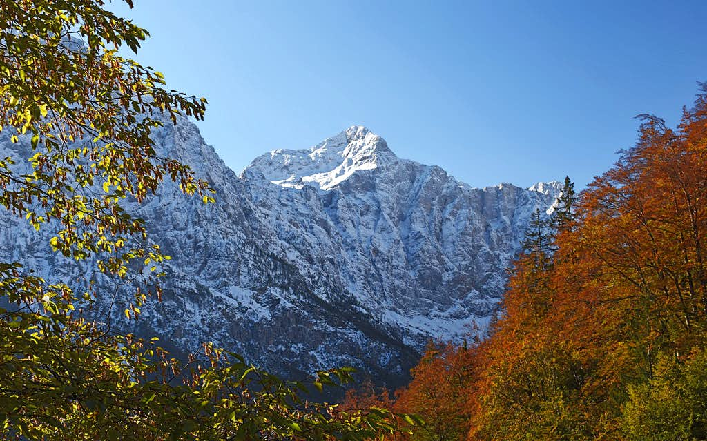 Triglav above Vrata valley