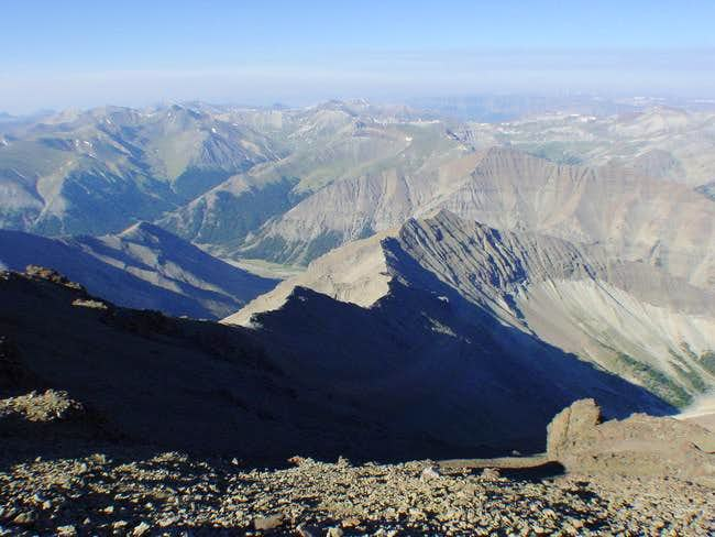 Looking west from the summit....