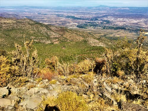 View to Camp Verde from just below the summit