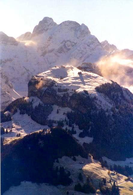 Snowdrifts over Ebenalp and...