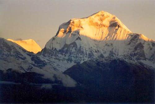 Dhaulagiri sunrise seen from...