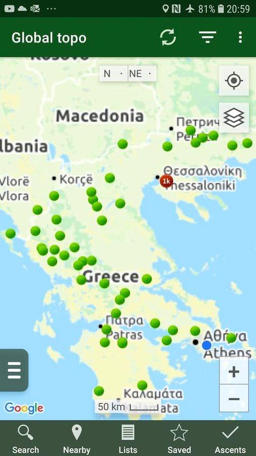 Autumn Peakbagging in Greece