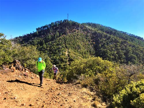 View towards the summit of Madera Peak