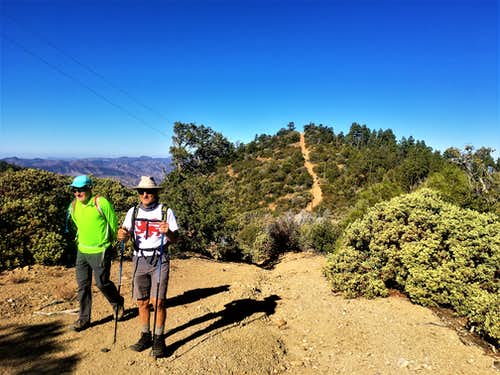 Past the last sub-hill en route to Madera Peak
