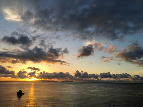 Sunrise over the Isla Desertas, Madeira