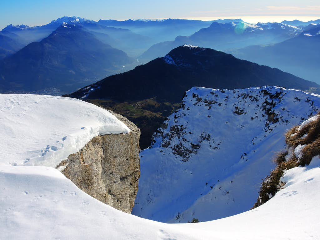 The Adige Valley seen from the summit of Monte Stivo
