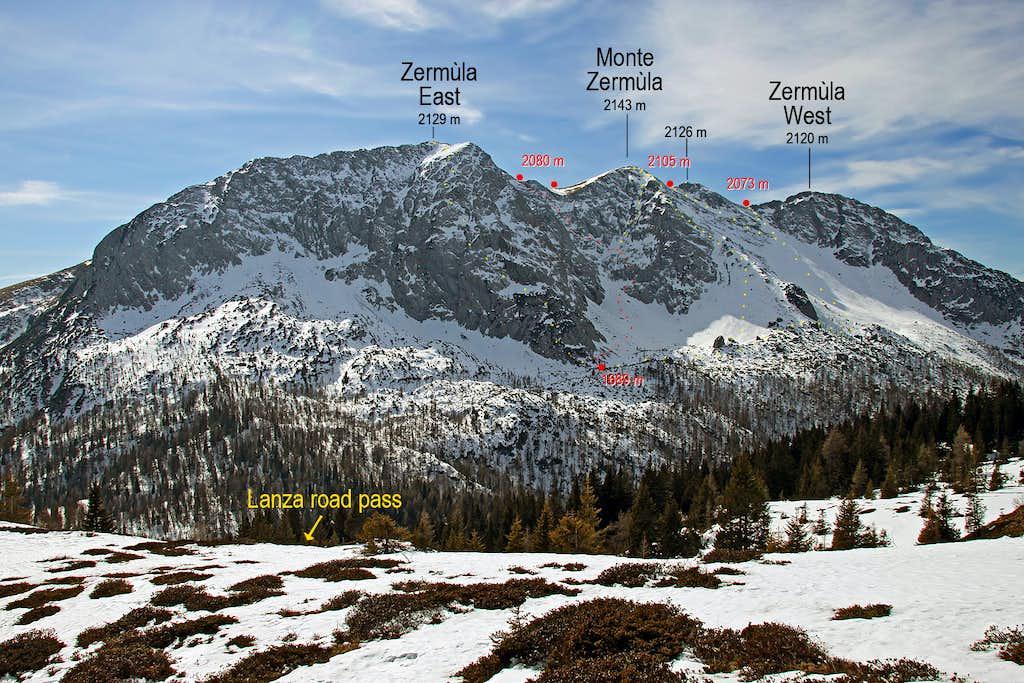 Monte Zermula NE annotated