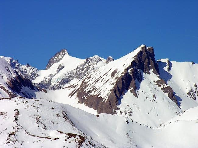 On the right Aiguille of...