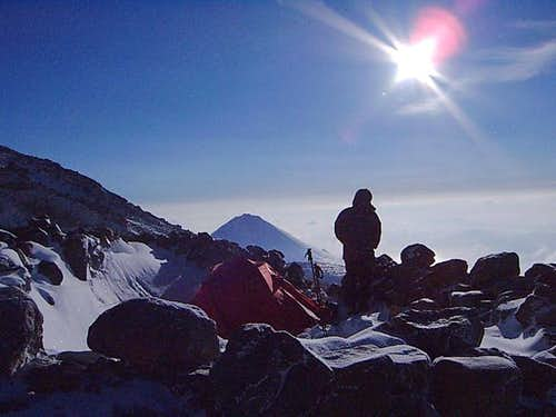 Camp at 4200 m. Mt.Little...