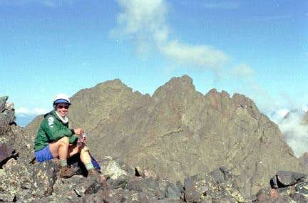 Summit photo Crestone Needle.