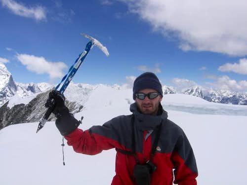 Me on the summit ridge of...