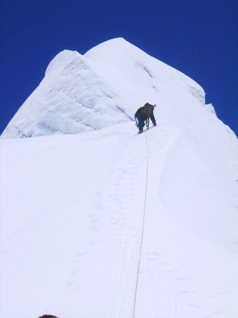 Climbing towards the summit...