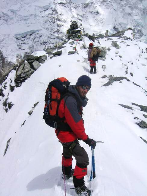 Me at the end of the glacier...