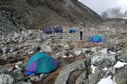 Island Peak Base Camp at...