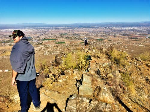 At the summit with a view towards the City of Phoenix