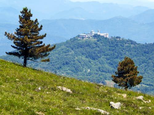Nostra Signora della Guardia sanctuary on top of monte Figogna