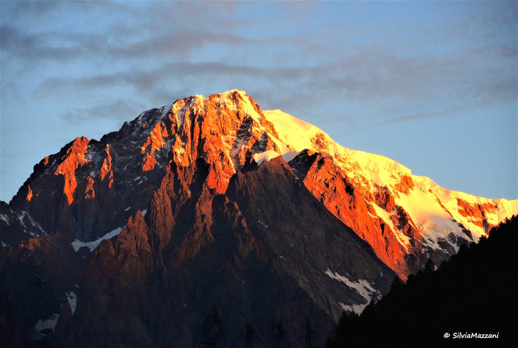 Monte Bianco at sunrise from Aosta Valley