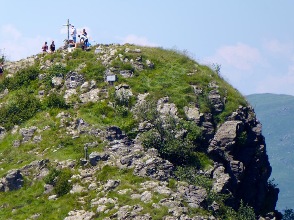 On the summit of Punta Martin