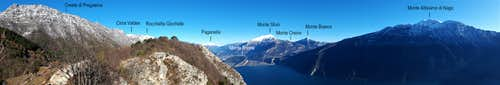 Punta dei Larici annotated panorama