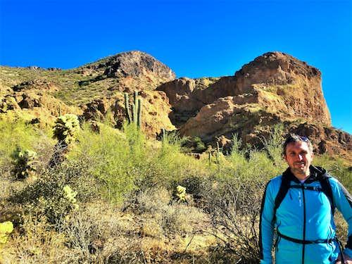 Brian below East Dome Mountain