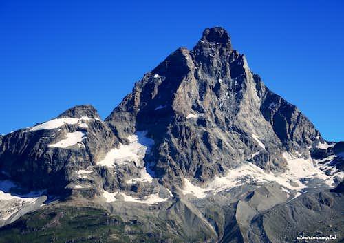 Cervino-Matterhorn in summer seen from Bec du Pio Merlo