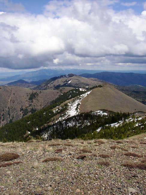 On summit looking east...